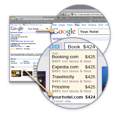 Book Live Reservations via Google